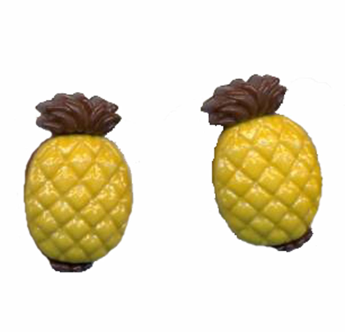 Pineapple 20button 20earrings
