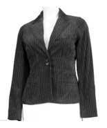 New! Jones New York Black Velvet Pinstripe Blazer Jacket M Pin Stripe za... - $25.00