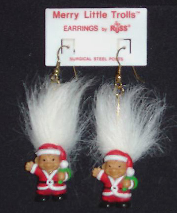 Troll 20doll 20santa 20earrings white