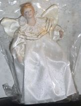 Avon Vintage Victorian Angel Christmas Ornament w/ Porcelain Face & Hand... - $8.00