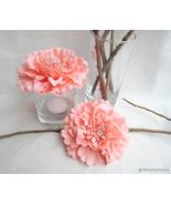 6 pieces Set.Coral Peonies Artificial Flowers Decor. Bridal Shower.Weddi... - $38.90