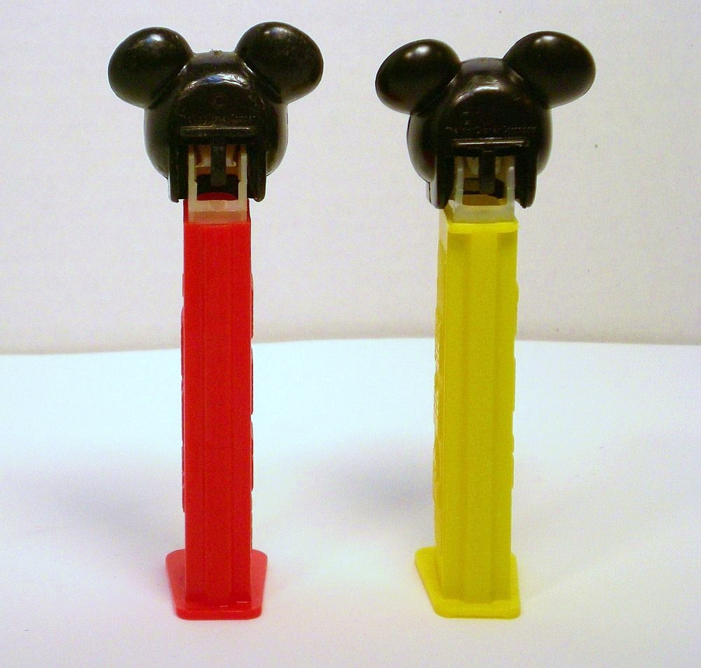 Mickey Mouse C Pez faceplate European 1989 release discontinued