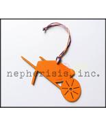 NWB Hermes Petit H Leather Ornament or Bag Charm WHEELBARROW PM Yellow/B... - $475.00