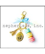 AUTH NWB Laduree Paris Macaron Tower Ribbon Key Ring or Bag Charm MINT - $100.00