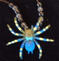 TARANTULA SPIDER PENDANT NECKLACE-Funky Novelty Gothic Jewelry-B - $6.97