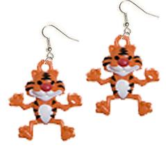 TIGER EARRINGS-TONY Cartoon Safari Animal Funky Novelty  Jewelry - $6.97