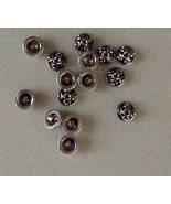 (8) NEW 925 STERLING SILVER BALI STYLE BEAD CAPS - $8.91