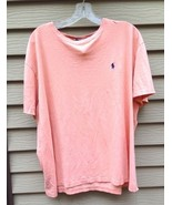 Men's Polo by RALPH LAUREN Crewneck Casual Shirt~ Peach color XL, Short ... - $29.20