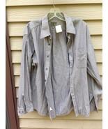 Men's CALVIN KLEIN Medium Dark Grey/Black/Color striped 16 (34/35) Shirt - $29.20