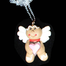 GINGERBREAD NECKLACE-ANGEL-Holiday Cookies Food Novelty Jewelry - $8.97