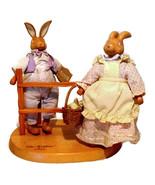 "Robert Raikes ""The Hopkins"" Vintage Wooden Rabbits Figurine Collectibles  - $35.00"
