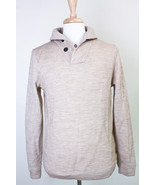 WINGS + HORNS SWEATER PULL OVER SHAWL COLLAR MEN'S SIZE LARGE BEIGE - $58.79