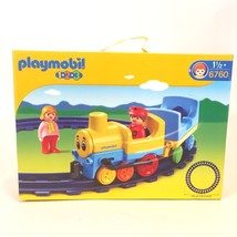Playmobil 1 2 3 Train Set 8 Tracks 2 Train Cars 2 Figures New 2006 - $21.84