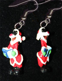 Primary image for SYLVESTER CAT EARRINGS-SANTA CHOIR-Fun Novelty Christmas Jewelry