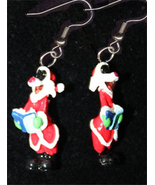 SYLVESTER CAT EARRINGS-SANTA CHOIR-Fun Novelty Christmas Jewelry - $6.97