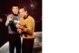 Star Trek B William Shatner Leonard Nimoy 8X10 Color TV Memorabilia Photo  - $6.99