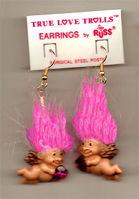 Cupid 20troll 20doll 20earrings pink