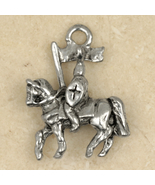 Prince Charming-KNIGHT on HORSE PENDANT NECKLACE-Renaissance King Arthur... - $16.97