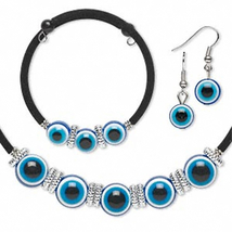 EVIL EYE JEWELRY SET-Cosplay Costume-Necklace-Bracelet-Earrings - $9.97