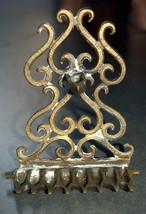 Judaica Hanukkah Oil Menorah Hanukkiah Bronze Oriental Decorations  image 3