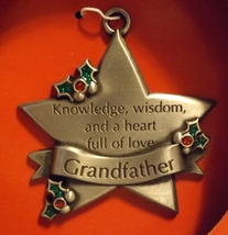 Pewter Ornament Grandfather - $14.99