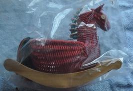 Discontinued Vintage Collectible Avon Wicker Rocking Horse Horsie Basket NIB New - $5.00
