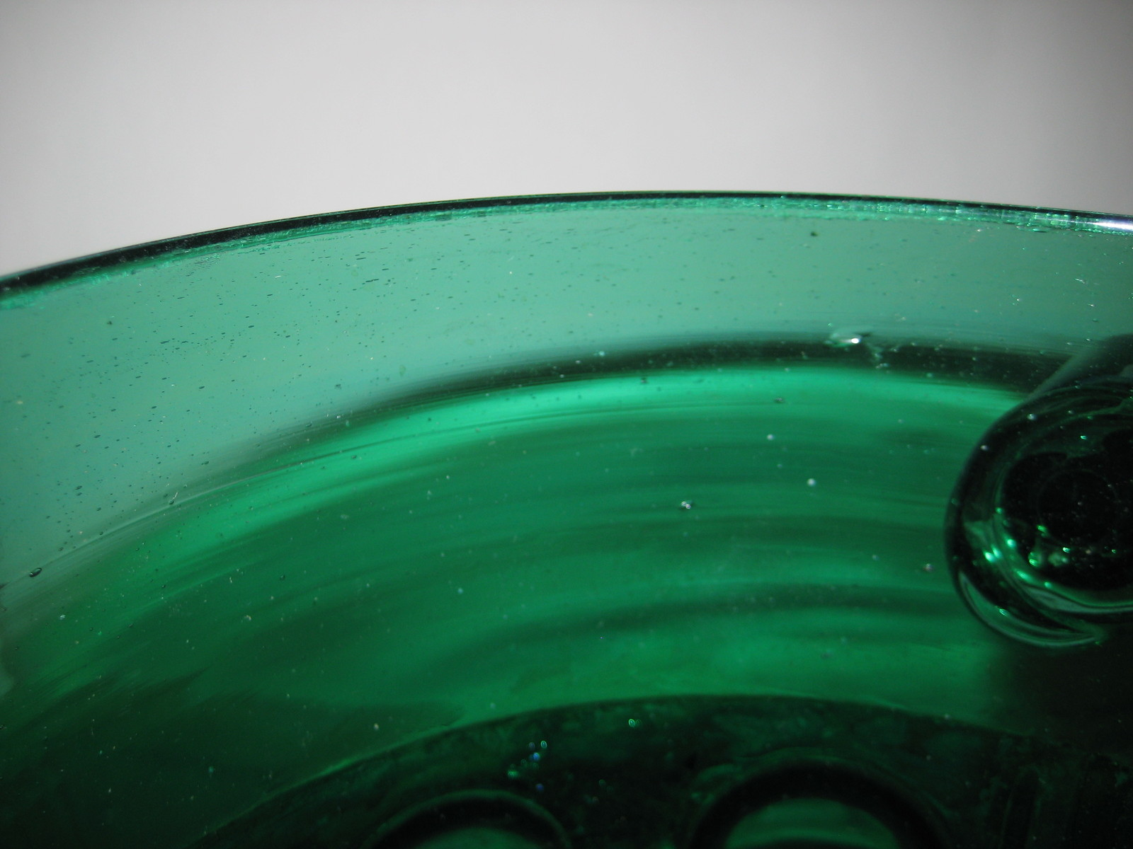 Champagne Bucket Green Glass with Hammered Brass Jacket