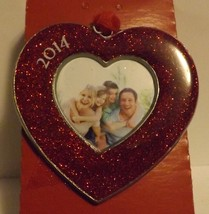 Gloria Duchin Pewter Photo Ornament Heart Dated 2014 - $14.99