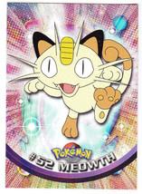 1999 Topps Series 1 Pokemon Tv Animation Edition Card # 52 Meowth - $1.99