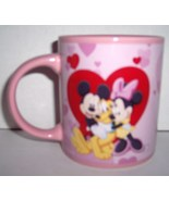 DISNEY MINNIE MOUSE & FRIENDS VALENTINE PINK COLLECTIBLE COFFEE MUG - $39.99