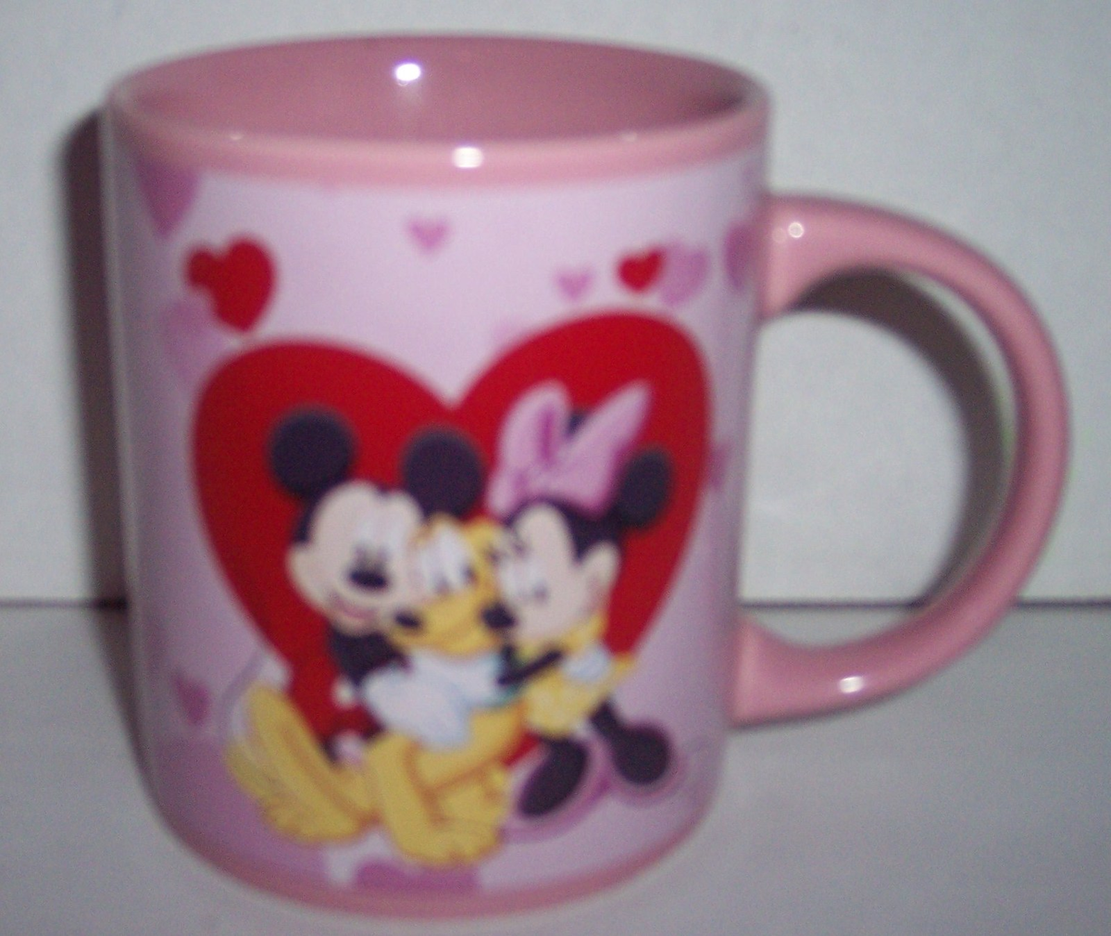 DISNEY MINNIE MOUSE & FRIENDS VALENTINE PINK COLLECTIBLE COFFEE MUG