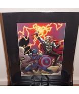 Marvel Avengers Captain America & Thor Matted P... - $24.99