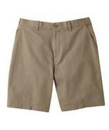 Croft & Barrow Mens Shorts Flat Front Flexible Waist 100% Cotton 50W 52W - $19.99