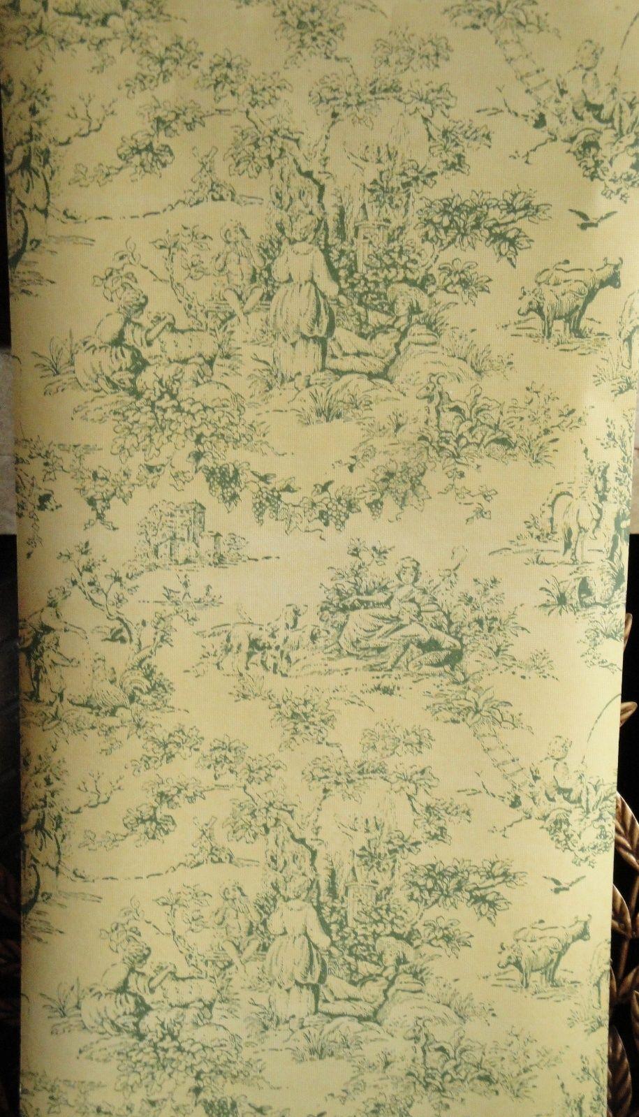 12sr green on lemon thomas strahan designer scenic toile