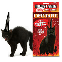 Inflatable EVIL Unicorn Horn for Cats Halloween Costume Gag Gift Cat Cos... - $6.91