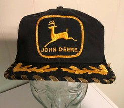 K Products Vintage John Deere Black Trucker Hat Egg Scrambled Mesh Foam ... - $137.91