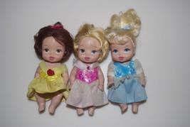 Disney Princess Royal Nursery 3 Pack Belle Aurora Sleeping Beauty Cinderella - $29.95