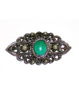 Faux Turquoise and pearl setting pin Vintage - $20.00