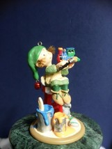 HALLMARK KEEPSAKE CLUB ORNAMENT (2009) ARTISTIC ELF PAINTING CHOO-CHOO T... - $14.70