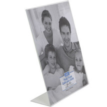 """Elegant Horizontal Curved Glass Photo Frames with Metallic Accents, 7x5"""" - $0.99"""