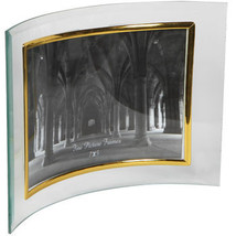 """Stylish Vertical Curved Glass Photo Frames, 4x6"""" New Gold  and Silver ac... - $11.05"""