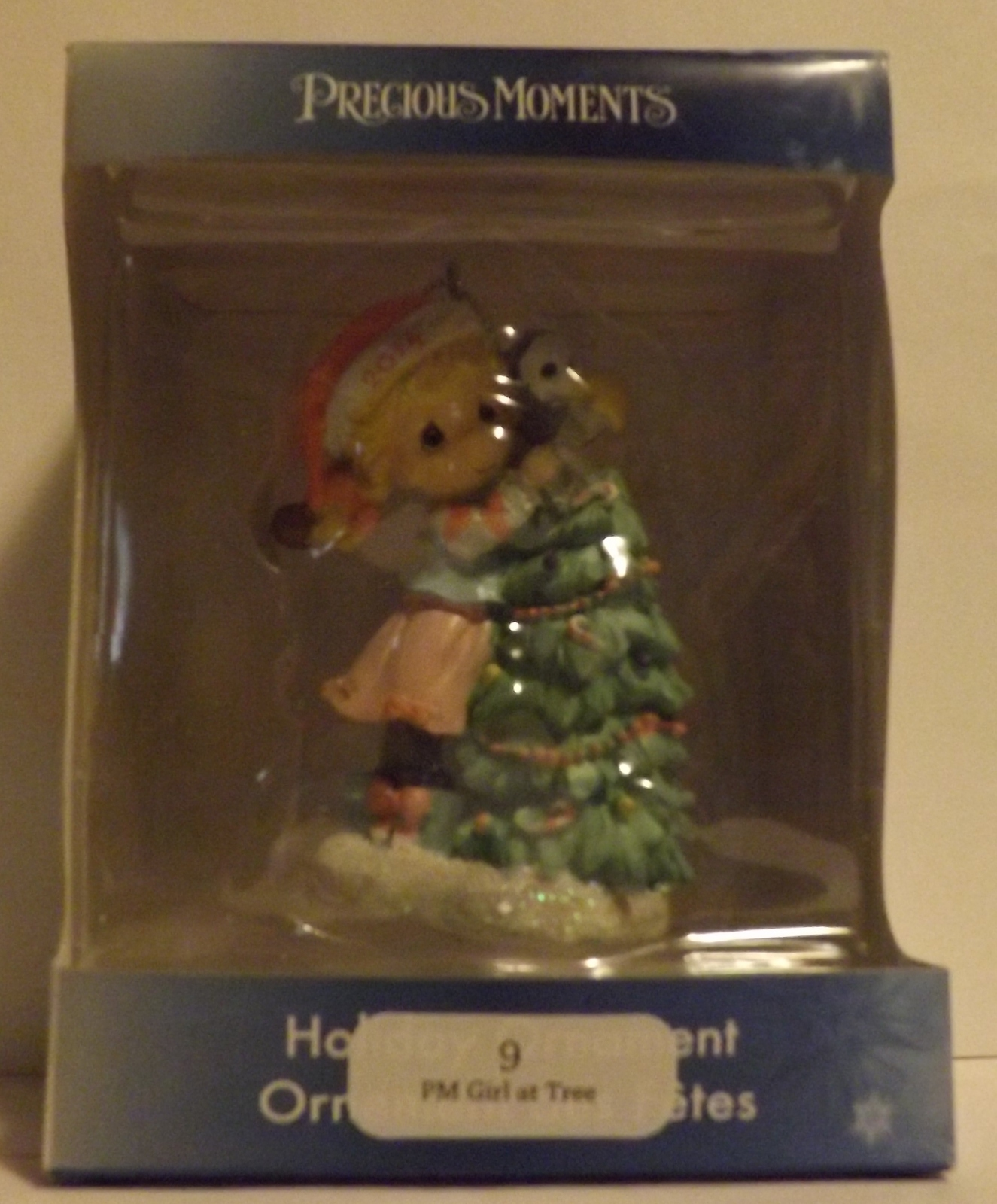 Christmas Tree For 2014: Precious Moments Girl At Christmas Tree 2014 Ornament