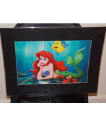 Disney The Little Mermaid Ariel & Flounder Matted Print 16 X 20 New - $24.99