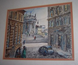 "H. M. GASSER ORIGINAL WATER COLOR PAINTING ""ROME"" SIGNED BY ARTIST - $5,400.00"