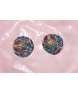 rainbow peace sign vinyl boho hippie burlesque ... - $19.99