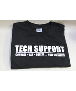 Control+Alt+Delt ... Now Go Away! XL Tech Support Geek Black Short Sleev... - $12.95
