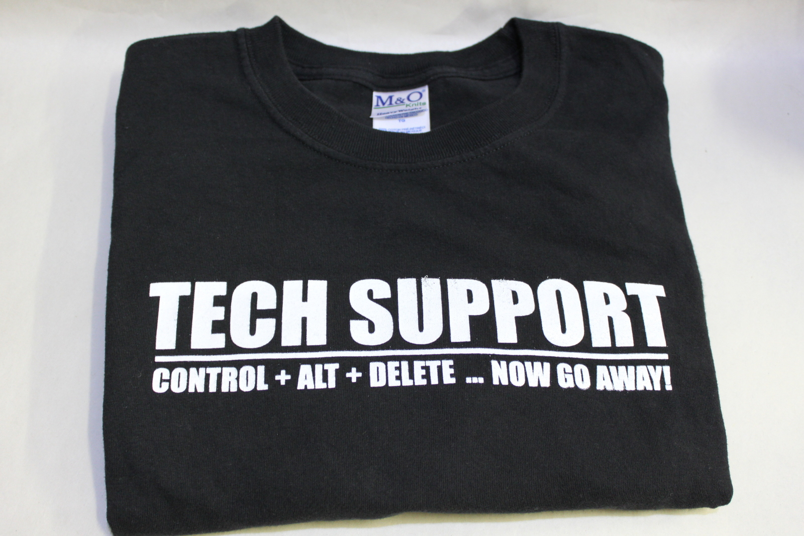 Control+Alt+Delt ... Now Go Away! XL Tech Support Geek Black Short Sleeve T-Shir