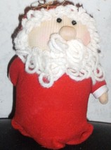 Discontinued Vintage AVON Collectible Soft Sculptured Santa Claus Orname... - $5.00