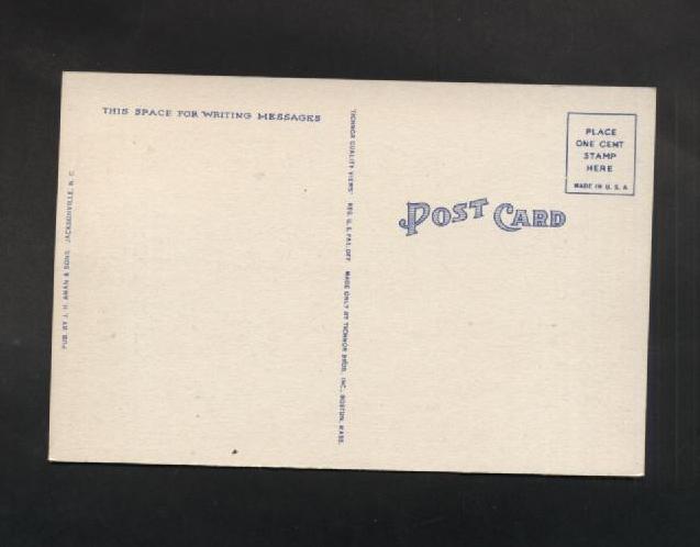 VTG Linen Postcard Scout Car Camp Le Jeune Marine Base New River NC WWII