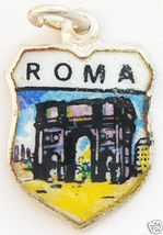 ROME ROMA ITALY ARCH OF CONSTANTINE Travel Shield Charm - $22.73